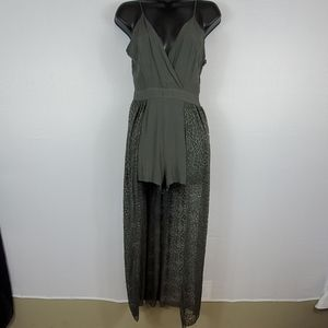 Alter'd State Olive Shorts Jumpsuit Size S